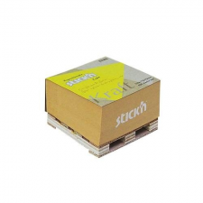 Stick'n Öntapadó jegyzettömb STICK`N Kraft cube 76x76mm mini raklapos natúr barna 400 lap jegyzettömb