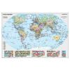 Stiefel A Föld országai tűzhető, keretezett falitérkép
