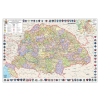Stiefel A Magyar Szent Korona országai térképe jelenleg Mo. határral fémléces