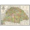 Stiefel Antik Magyarország térkép / antik Magyarország 1876 wandi
