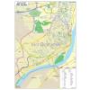 Stiefel Budapest kerület térképe, fémléces