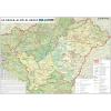 Stiefel Eurocart Kft. Az Észak-Alföldi régió térképe fémléces