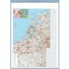 Stiefel Eurocart Kft. Benelux államok autótérképe tűzhető, keretes