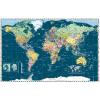 Stiefel Eurocart Kft. Föld országai térkép trendi színezéssel, fóliás-fémléces. Limitált kiadás!
