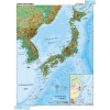 Stiefel Eurocart Kft. Japán és Korea, domborzati (angol v. német)