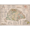 Stiefel Eurocart Kft. Magyarország gazdaságföldrajzi térképe fakeretben (1921)