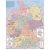 Stiefel Eurocart Kft. Németország irányítószámos térképe fóliás-fémléces