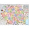 Stiefel Eurocart Kft. Románia közigazgatása térkép mágnesezhető, fémkeretben