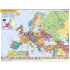 Stiefel Európa országai és az Európai Unió térképe (keretezett)