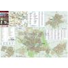 Stiefel Gyula-Sarkad-Elek térkép, fémlécezett