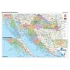 Stiefel Horvátország politikai + vaktérkép DUO (horvát nyelvű)