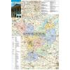 Stiefel Jász-Nagykun-Szolnok megye térkép fémléces, fóliázott