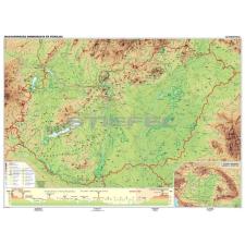 Stiefel Magyarország domborzata iskolai falitérkép DUO + 10 db ajándék tanulói munkalap térkép