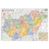 Stiefel Magyarország közigazgatása térkép a járásokkal keretezett, tűzhető