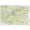 Stiefel Magyarország turisztikai térképe fóliázott, lécezett