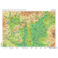 Stiefel Magyarország vizei, domborzata és bányászata térkép