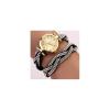 Strasszokkal kirakott bőr szíjas női óra. 000055oc