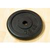 Súlytárcsa súlyzóhoz 7,5 kg fekete öntöttvas