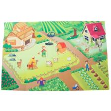 SUN BABY játszószőnyeg autókkal - Farm (120*80cm) játszószőnyeg