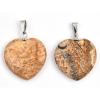 Sütő-ékszer Tájképjáspis kis szív medál