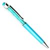 Swarovski kristályos golyóstoll kék tintával - világoskék
