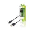 Sweex USB 2.0 Kábel USB A Dugó - Micro B Dugasz 1 m Fekete Sweex swmb60501b10