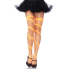 Swirl Diamond Net Thigh Highs - NEON ORANGE - O/S - HOSIERY