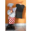 Szakács-táblával/ 75 cm/kockás kötényes-bajusz nélküli