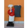 Szakács-táblával/ 75 cm/piros inges-bajusz nélküli