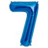 Szám formájú óriás fólia lufi, kék 7