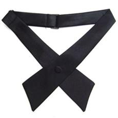 Szatén nõi kereszt nyakkendõ - Fekete