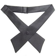 Szatén nõi kereszt nyakkendõ - Sötétszürke