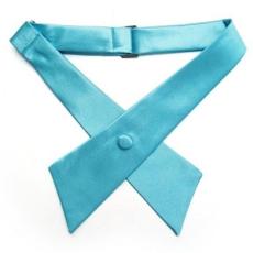 Szatén nõi kereszt nyakkendõ - Türkízkék
