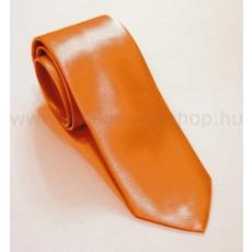 Szatén slim nyakkendõ - Narancssárga