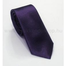 Szatén slim nyakkendõ - Sötétlila