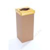 Szelektív hulladékgyűjtő, újrahasznosított, 60 l, RECOBIN Slim, sárga (URE001)