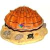 Szer-Ber Barna kagyló levegőporlasztós akvárium dekoráció