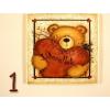 Szerelmes medvés hűtőmágnes, többféle mintával