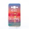 Szilikon tok, Samsung Galaxy A7 (2017) A720 , átlátszó, mintás hátlap, minta 1 (Naplemente)