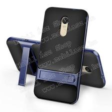 Szilikon védõ tok / hátlap - KÉK - mûanyag szegély, csúszásgátlós felület, kitámasztható - Xiaomi Redmi Note 4X (Global Version) tok és táska
