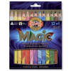 """SZÍNES ceruza készlet, háromszögletű, KOH-I-NOOR """"Magic 3408"""", 12+1 különböző szín (TKOH3408)"""