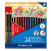 """SZÍNES ceruza készlet, hatszögletű, STAEDTLER """"Noris Colour"""", 20+4 különböző szín (TS185C24P)"""