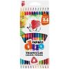 """SZÍNES ceruza készlet, kétvégű, háromszögletű, ICO """"Süni"""", 12 különböző szín (TICSUKK12)"""
