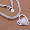 Szív medálos ezüsttel futtatott nyaklánc