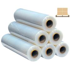 Sztreccsfólia, 1kg átlátszó kézi nyújtható fólia 0,5m széles - FÉL RAKLAPOS papírárú, csomagoló és tárolóeszköz