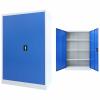 szürke/kék fém irodaszekrény 90 x 40 x 140 cm