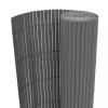Szürke kétoldalas PVC kerti kerítés 90 x 300 cm