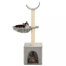 Szürke macskabútor szizál kaparófákkal 105 cm macskafelszerelés