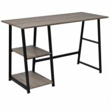 Szürke, tölgy íróasztal 2 polccal íróasztal