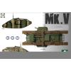Takom WWI Heavy Battle Tank MarkV 3 in 1 tank harcjármű makett Takom 2034